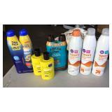 Sunscreen Lot of 9