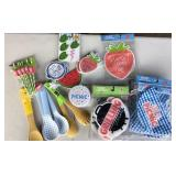 Picnic Party Supplies (Utensils, Bags, Coasters)