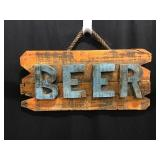 Wooden Beer sign