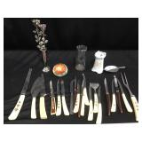 Misc silverware and decor