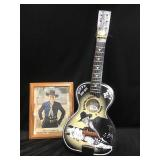 Hop Along Cassidy guitar and autographed photo