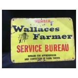 Wallace Farmer Metal Sign