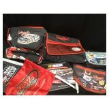 Dale Earnhardt bags, flags, book and pins