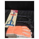 B.B. guns, gloves and bow kit