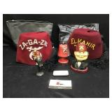 Shriner Hats, Bobble Head  & Misc