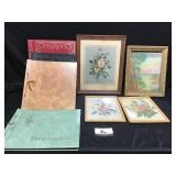 Vintage Art & Unused Scrapbooks