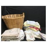 Linens in Basket