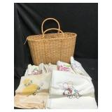 Towels, Linens and Basket