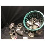 Basket of plumbing fittings