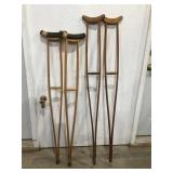 Wood crutches