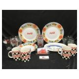 Coca-Cola Plates and Cups