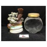 Decanter and Glasses Jar