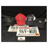 Collector Hats and License Plates