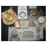COIN, CURRENCY, JEWELRY AUCTION