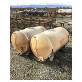 Set of (2) 200 Gallon Poly Side Tanks