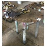"36"" Round Iron Work Table"