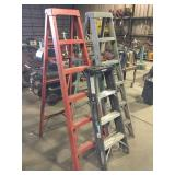 Lot of (3) Fiberglass Ladders