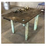 "33""x50"" Iron Work Table"