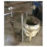 Lot of (2) Iron Stands/Table