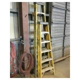 Lot of (2) Fiberglass Ladders