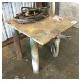 "33""x36"" Iron Work Table"