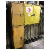 Yellow Metal Shop Cabinet