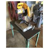 DEWALT Electric Chop Saw on Iron Table/Stand