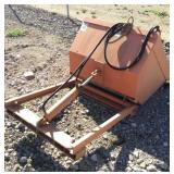 WELLCO Hydraulic Forklift Dump Bin Attachment