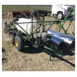 PBM 100 Gal Poly Tank Dual Axle Strip Sprayer