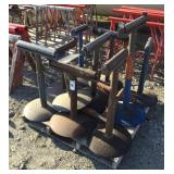Lot of (9) Adjustable Roller Stands