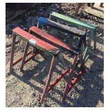 Lot of (4) Small Iron Horses/Stands
