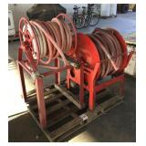 Lot of (2) Hose and Reel Sets