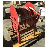 Hose and Reel Set on Stand