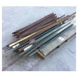 Pallet of T-Posts and Iron Stakes
