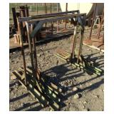 Lot of (4) Tall Iron Horses/Stands