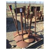 Pallet of (8) Iron Posts/Stands