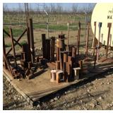 Lot of Assorted Iron Posts/Stands