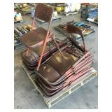 Pallet of (15) Metal Folding Chairs
