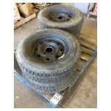 Pallet of (4) FIRESTONE P205/75R14 Tires and Rims