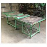 (2) Steel Rolling Shop Tables