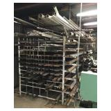 Iron Shelving Unit w/ Channel and Angle Fab. Iron