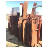 Lot of Sheet Iron and Racking