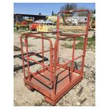 Rolling Forklift Man Cage Attachment