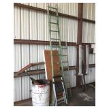 "Lot of Ladders and ""Sweeper Can"""