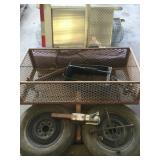 Pallet with Steel Hitch Basket and Tires/Rims