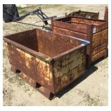 Lot of (2) Iron Scrap/Parts Bins
