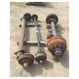 Lot of (3) Assorted Trailer Axles