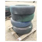 "Pallet of (4) ""Scab"" Trailer Tires and Rims"