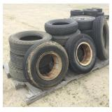Pallet of Assorted Size Tires