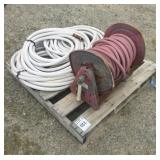 Pallet of Hoses and Reel